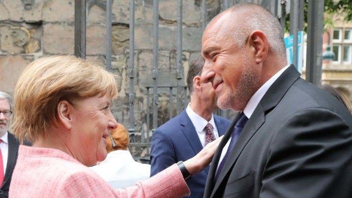 Борисов поздрави Ангела Меркел на немски