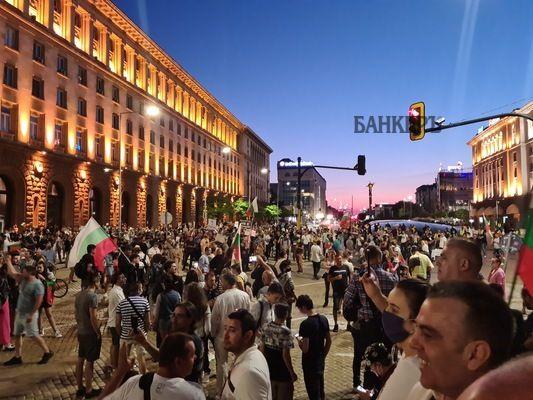 13-ти ден на антиправителствен протест в столицата