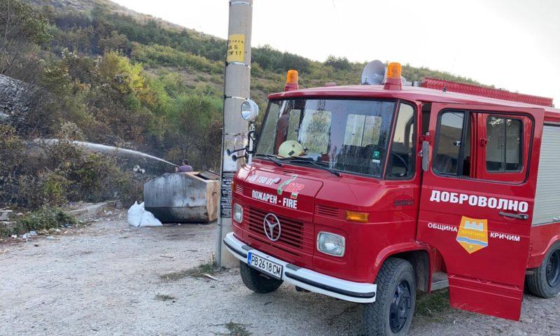 Кметът на Кричим благодари на хората, гасили два пожара край града