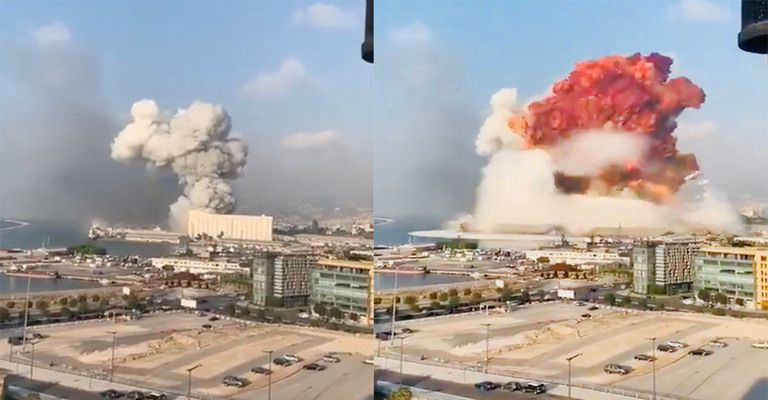 Огромна експлозия в Бейрут, неизвестен брой загинали