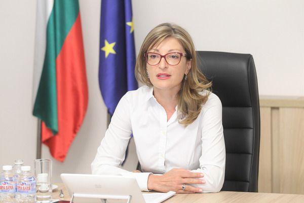 """Захариева заминава за първия Съвет """"Външни работи"""" за 2021 г."""