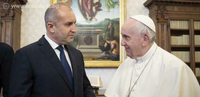 Папа Франциск отправи послание към България и българите